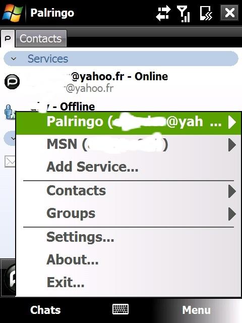 Faire du MSN avec une connexion wap presque comme le vrai MSN : PALRINGO Pal0810