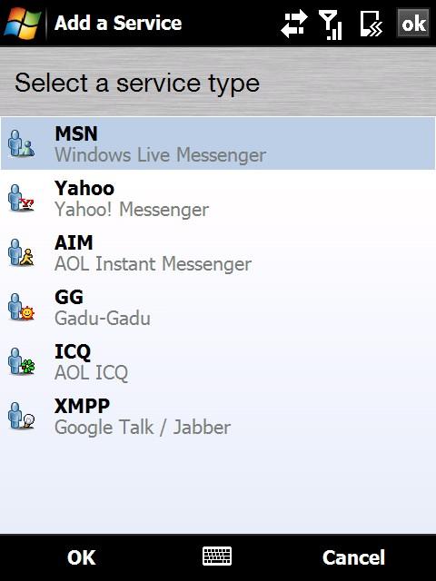Faire du MSN avec une connexion wap presque comme le vrai MSN : PALRINGO Pal0910