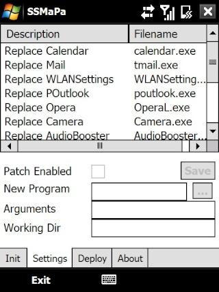 SSMaPa modifier les programmes appelés depuis les onglets du TF3D Screen13