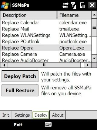 SSMaPa modifier les programmes appelés depuis les onglets du TF3D Screen14