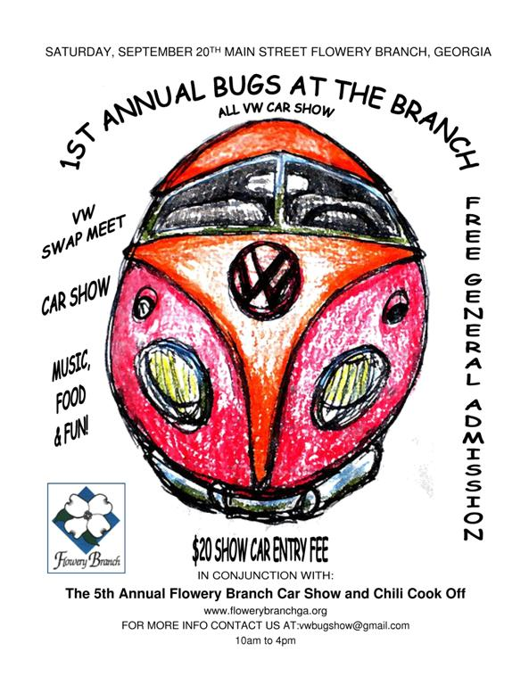 1st Annual Bugs at the Branch, Sept 20th Flyer210