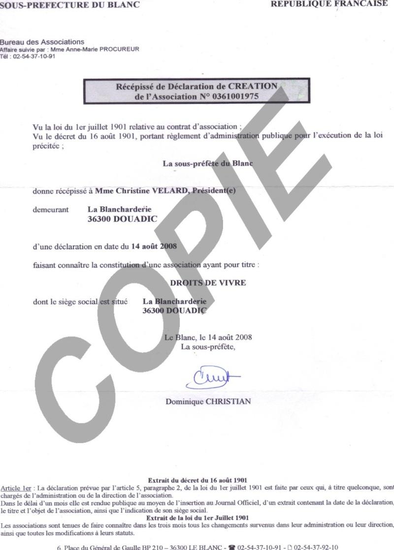 Documents déclaratifs de l'association Declar10