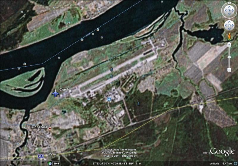 Crash aérien Aéroport de Laroslavl  Russie 57°33'25.55''N 40°09'10.55''E Crash10