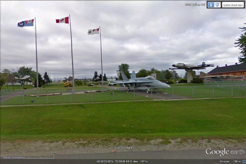 installations militaires google earth