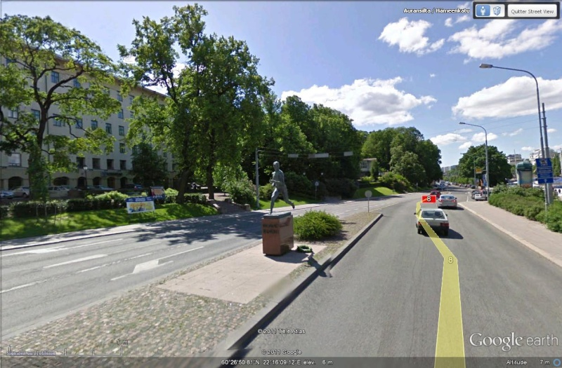 [Finlande] - STREET VIEW : les cartes postales Statue10
