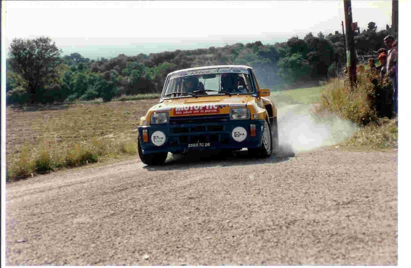 Stéphane Poudrel et Bernard Froment au Rallye de Pierrelatte Stepan11