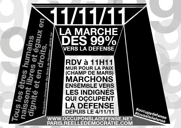 11 11 11: grand rassemblement et grande marche des indignés 11-11-10