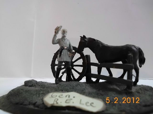 Fullgeneral Robert E. Lee mit Traveler. Mix in 1/72 1168