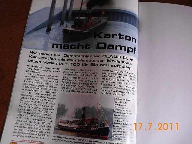 Hobby Modellbau - Schlepper Claus von HMV in 1/100 217