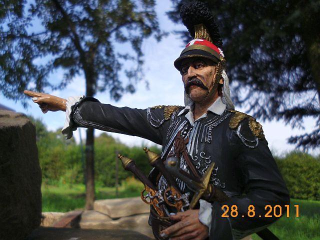 YS - HB-002 Hellenic Revolutionary Captain 1821. Resin Büste 200mm - GALERIE 323