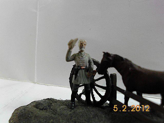 Fullgeneral Robert E. Lee mit Traveler. Mix in 1/72 468