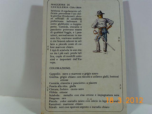 Amati 8078 - Konföderierter Kavallerist 1864 - 54mm Zinn, Vorstellung 720
