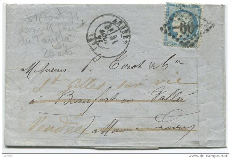 Dernier jour de tarif, 31 aout 1871, et redirection Dernie10