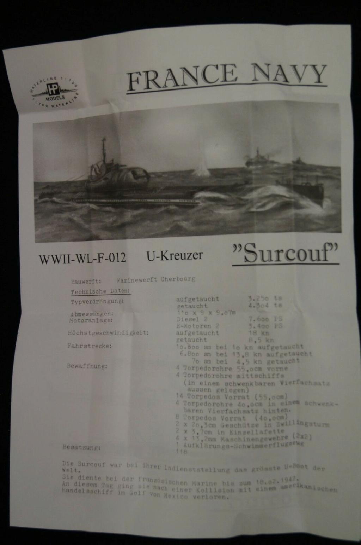 Le sous-marin SURCOUF 1/700 S2-l1610
