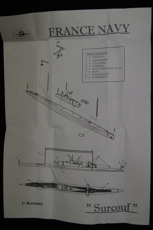 Le sous-marin SURCOUF 1/700 S3-l1610