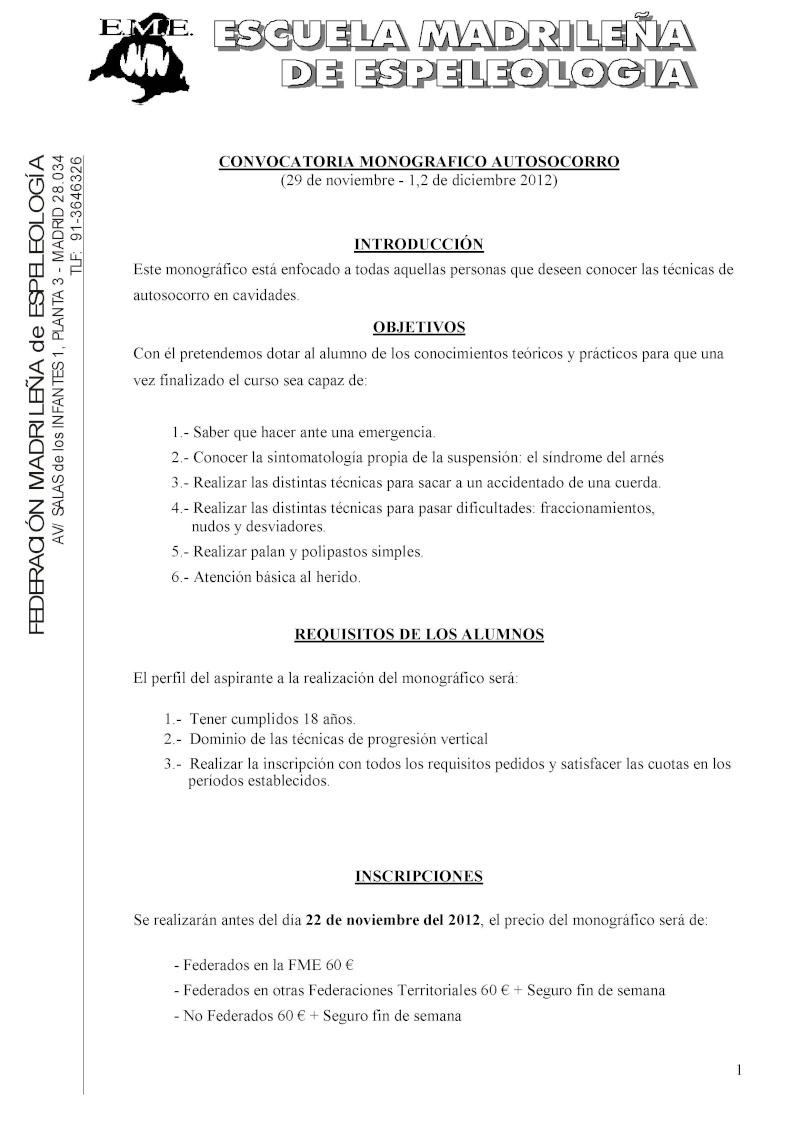 Monográfico de autosocorro de la EME Convoc14