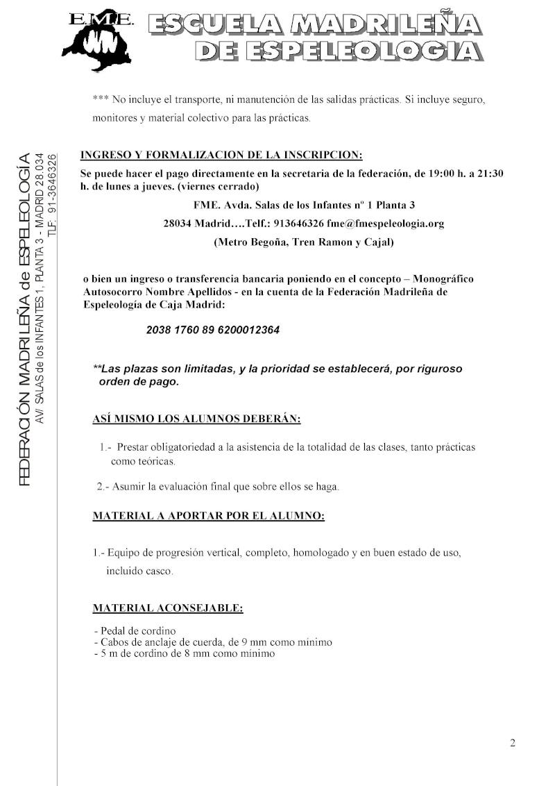 Monográfico de autosocorro de la EME Convoc15