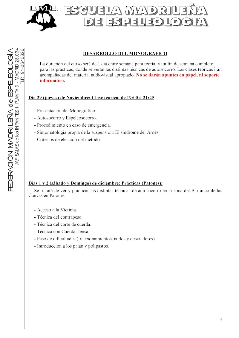 Monográfico de autosocorro de la EME Convoc16
