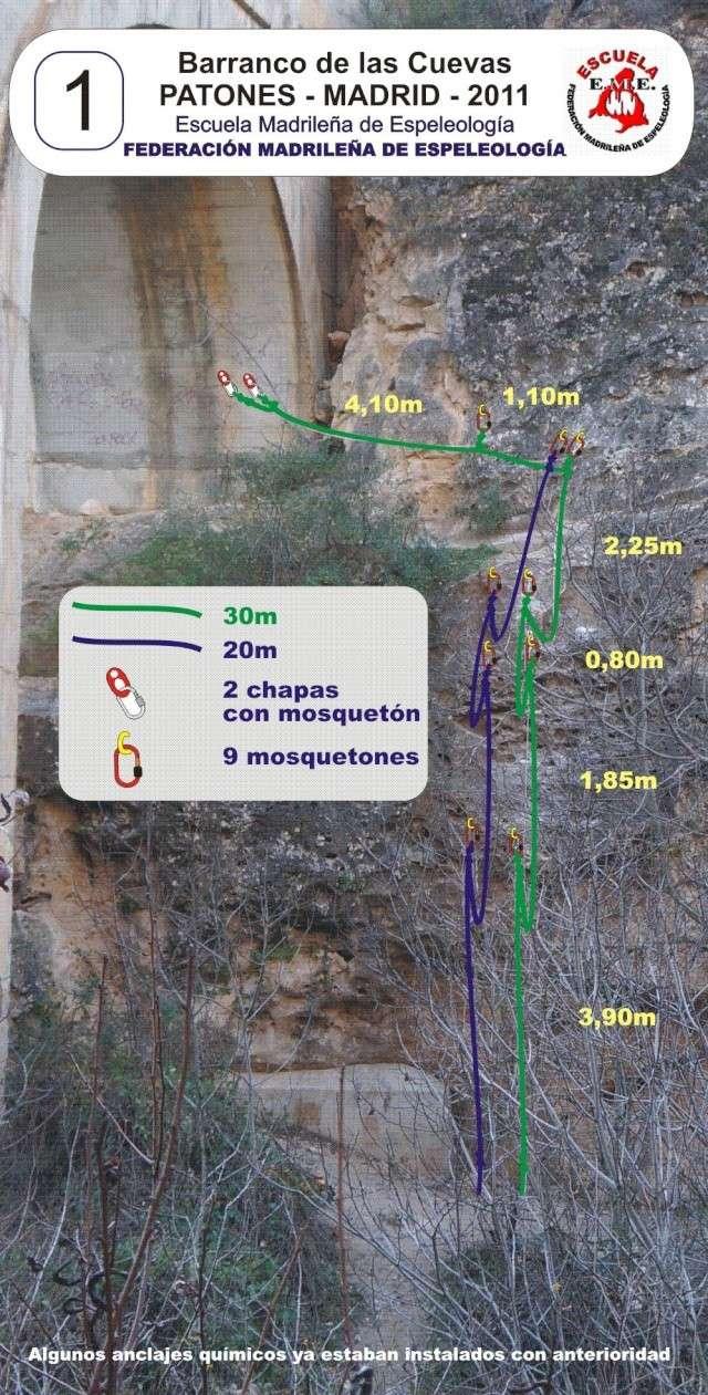Vías con químicos en el Barranco de las Cuevas Vaas_q10