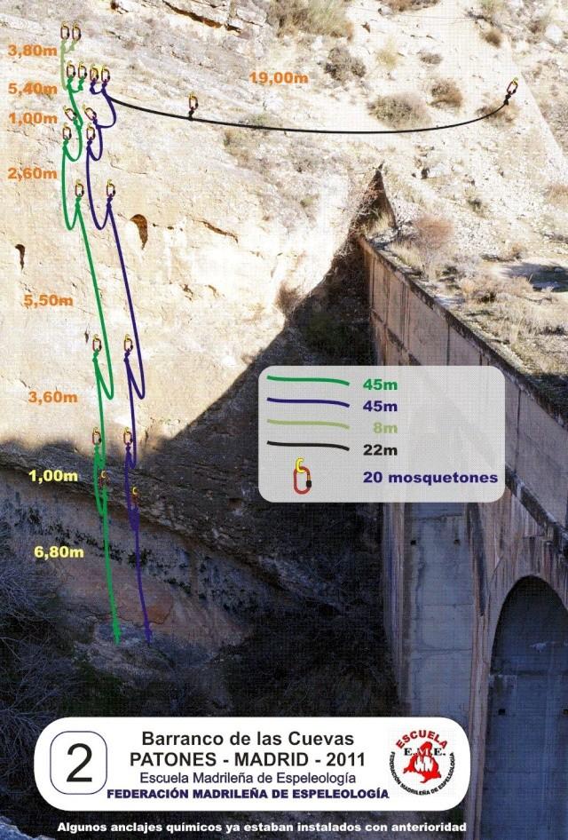 Vías con químicos en el Barranco de las Cuevas Vaas_q12