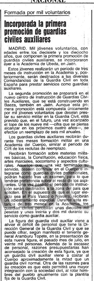 Documento Historico ABC 1 Promo Guardia Civil Auxiliar. Año 1982 Sin_ta18