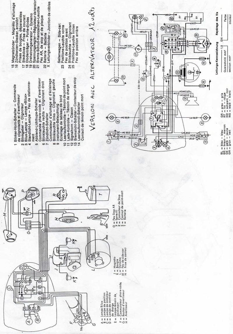 schema circuit electrique en 12v alternateur