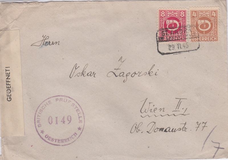 Posthornzeichnung  -  ANK 697-713  -  Belege Img10
