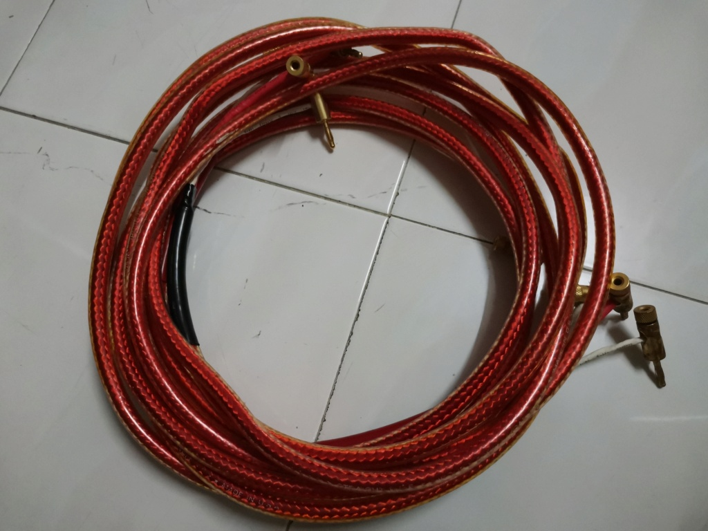 Straight wire  encore speaker cable Img_2128