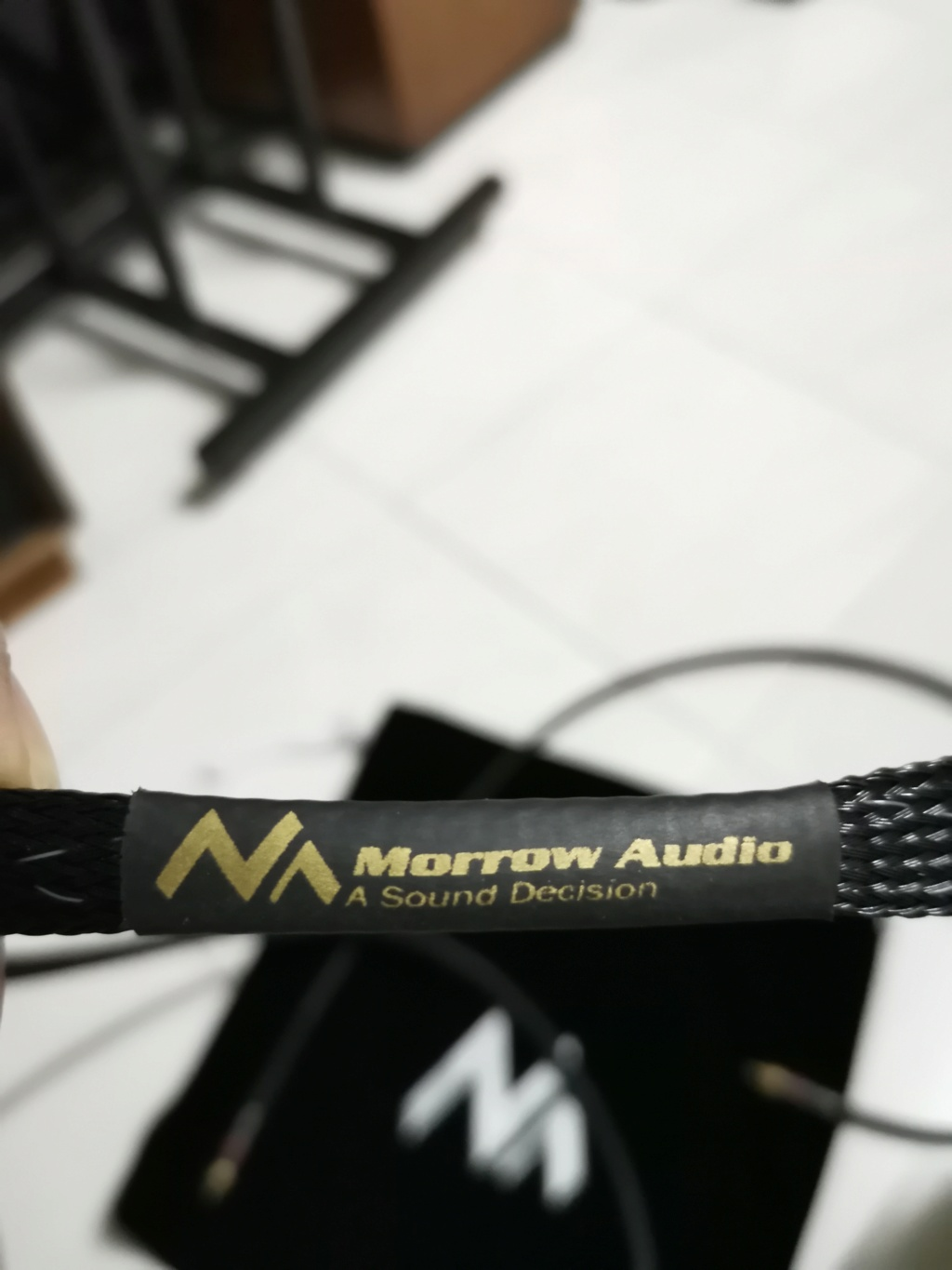 Morrow Audio MA6 RCA Audio Cable Interconnects cable Img_2130