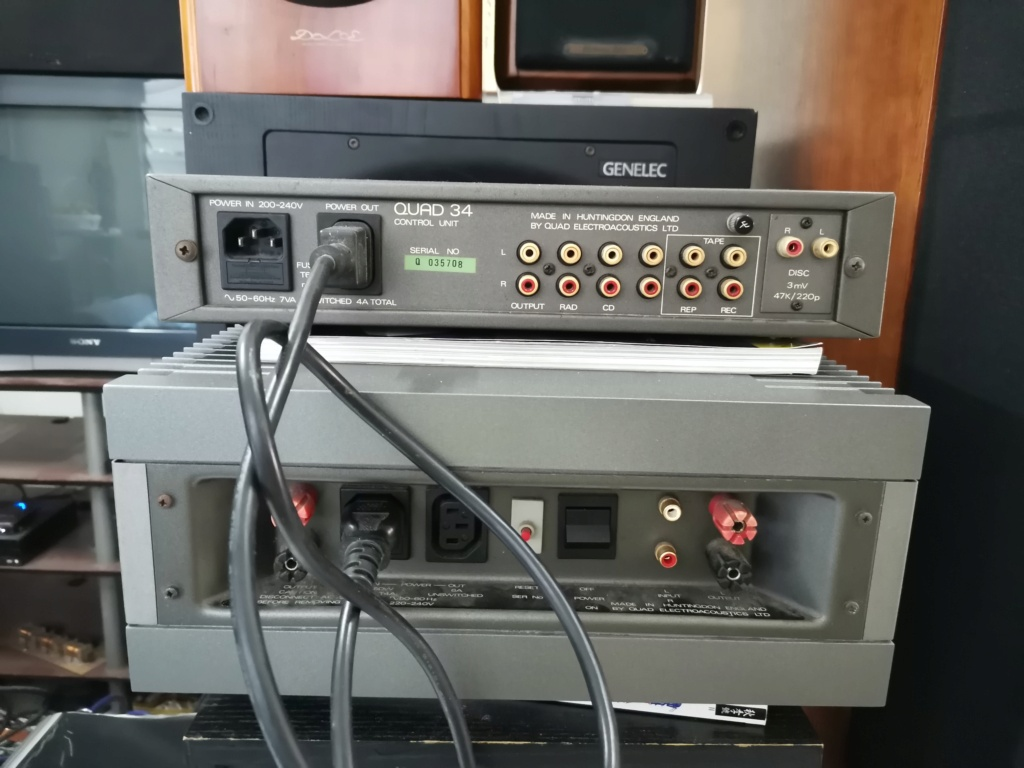 Quad 34 preamplifier & 606 mk 2 power amplifier SOLD Img_2325