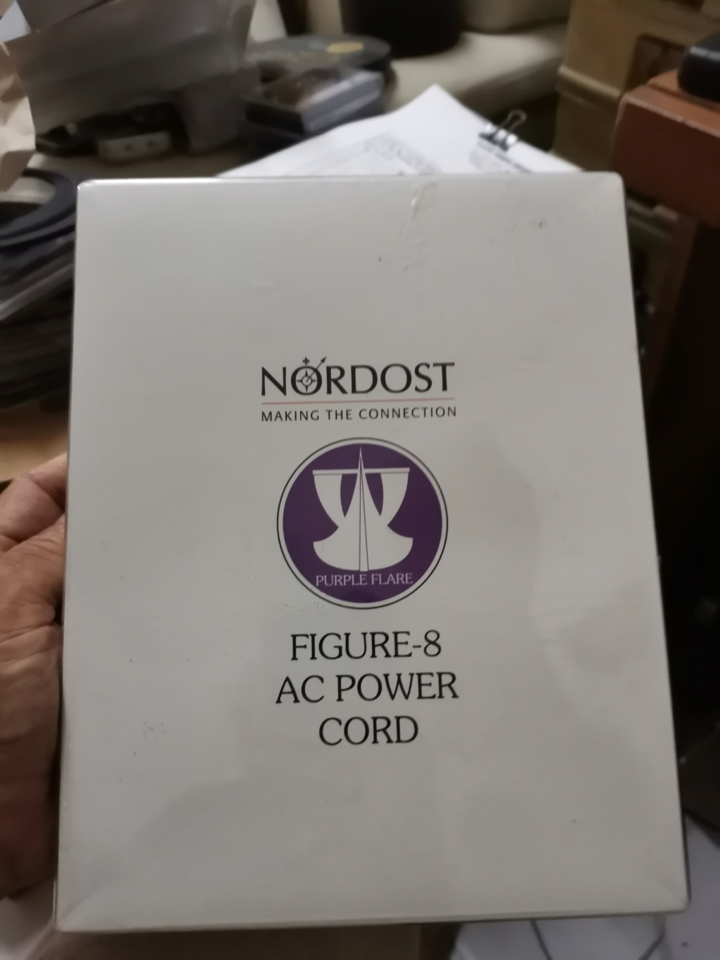 Nordost Purple Flare Figure 8 Power Cable Img_2408
