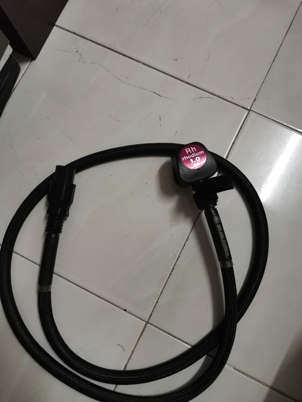 MS hd power MS-P80-rhodium 1.0 power cord sold Img_2486
