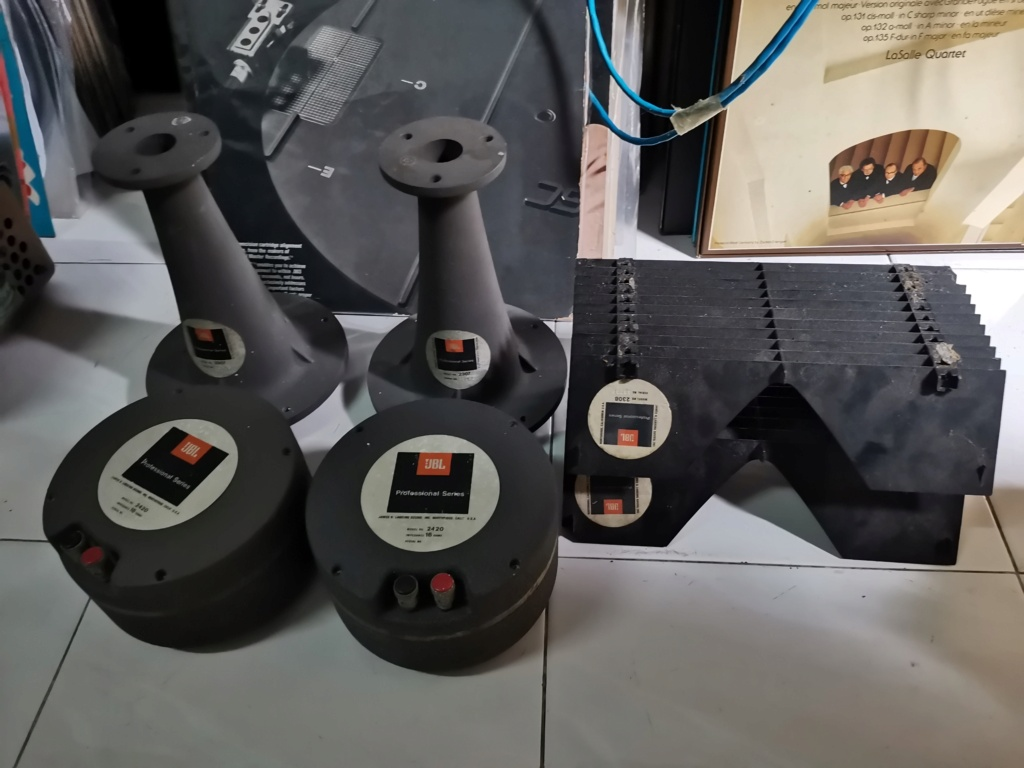 """jbl 2420 Compression Driver  , 2307 1"""" diameter horn , 2308  Style Kenrick Sound Lenses Img_2525"""