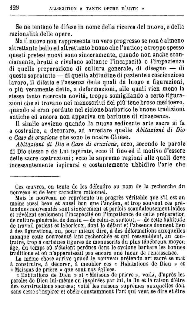 LES EXIGENCES DE L'ART SACRÉ 130-4710
