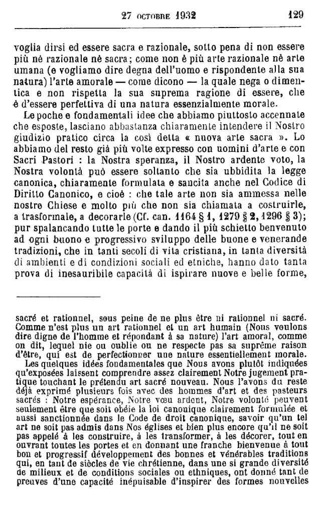 LES EXIGENCES DE L'ART SACRÉ 131-4410