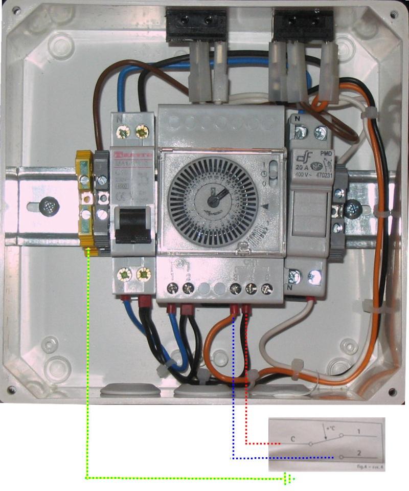 Branchement thermostat pour filtre Tablea21