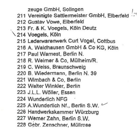 Les étuis de P 08, époque impériale. Liste_14