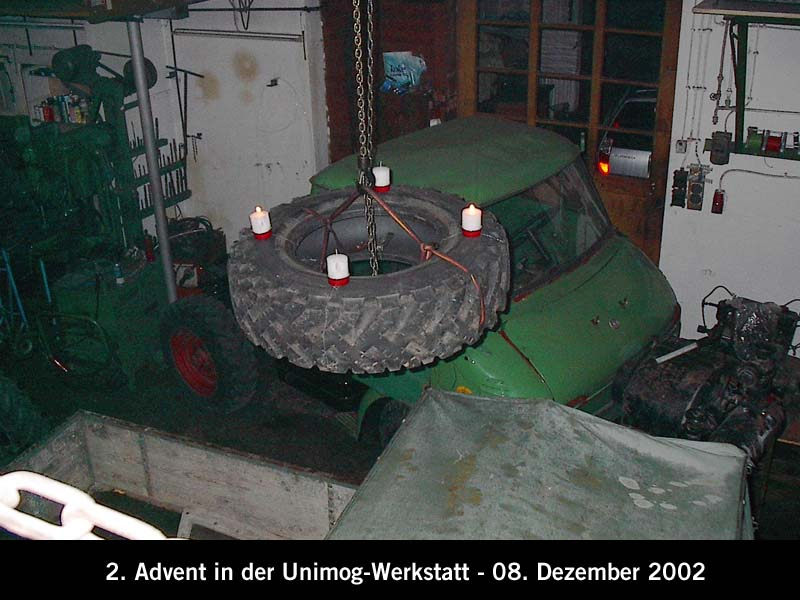 ambiance de l'avent dans votre garage Unimog76