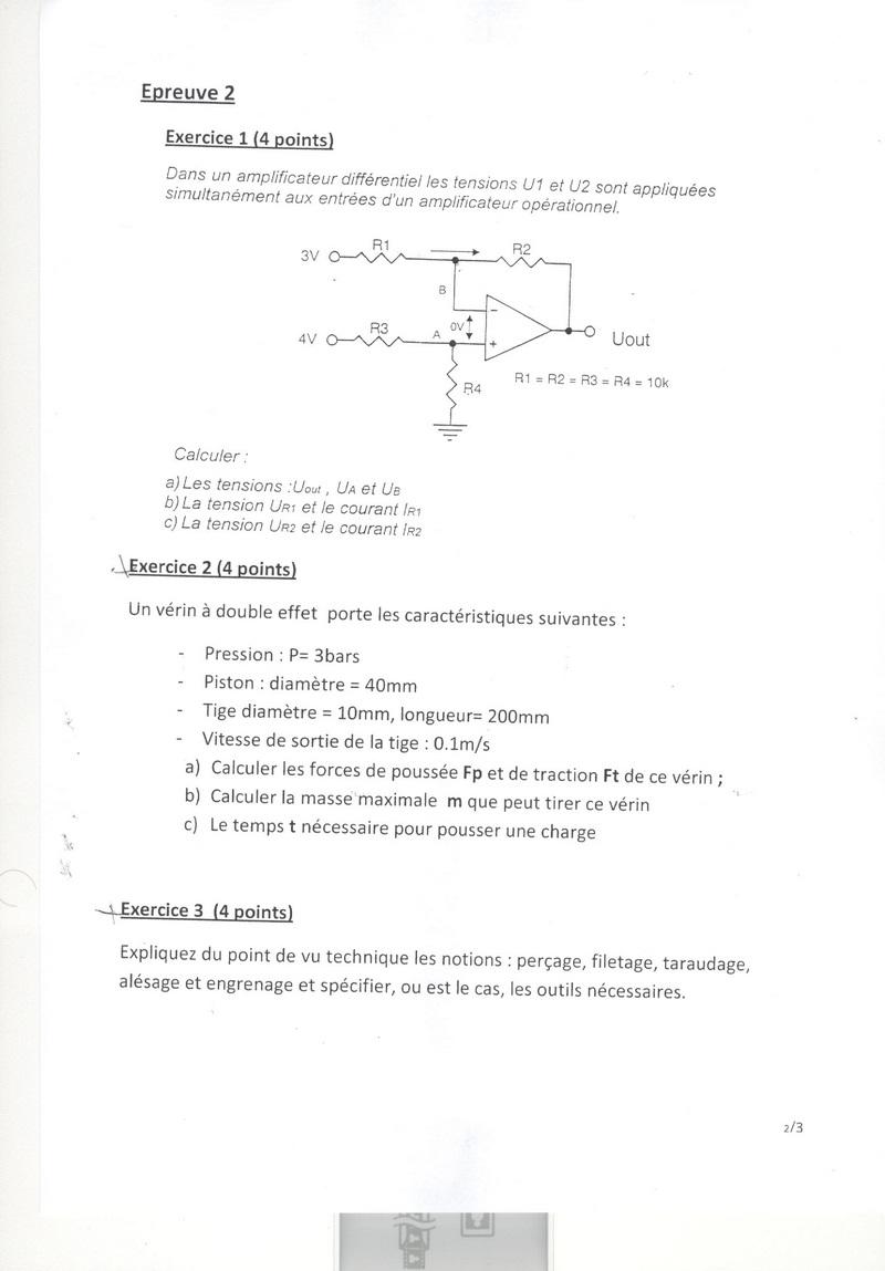المركز الاستشفائي الجامعي محمد السادس مراكش: نموذج مباراة توظيف تقنيين من الدرجة 3 تخصص الصيانة البيوطبية أو إلكتروميكانيك الأنظمة التلقائية دورة 24 يوليوز 2011 311