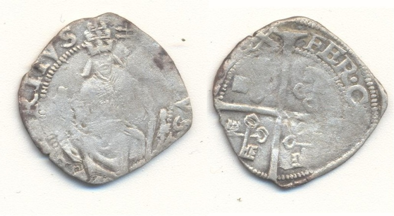 Monnaie papale en argent trouvée dans un lot de prospecteur Papale10