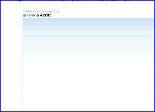 Lire les vidéos sur le forum (Firefox) Et110