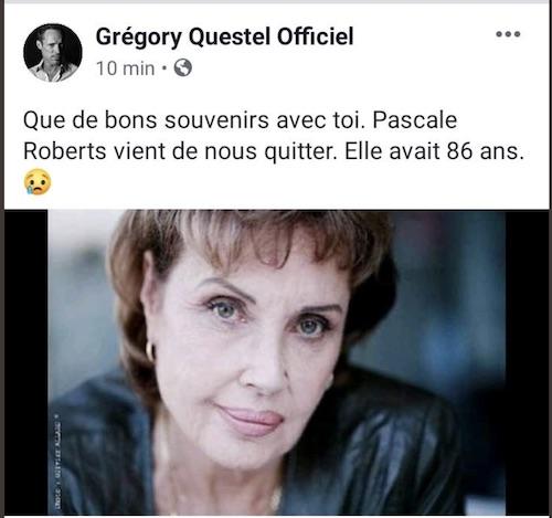 Décès de Pascale Roberts (Wanda, mère de Blanche) Gregor10