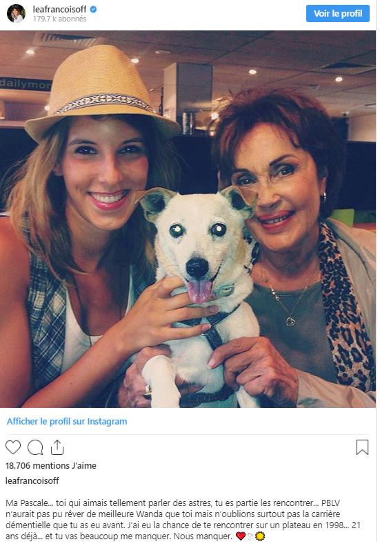 Décès de Pascale Roberts (Wanda, mère de Blanche) Lea10