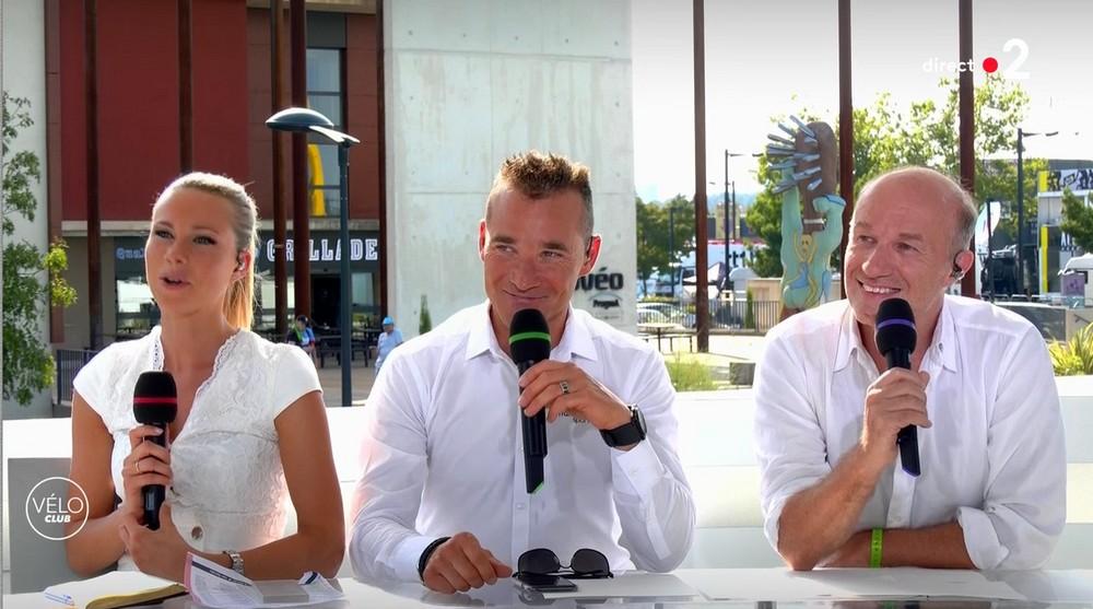 Les comédiens sur le Tour de France à Nîmes (23/07/19) Martot14