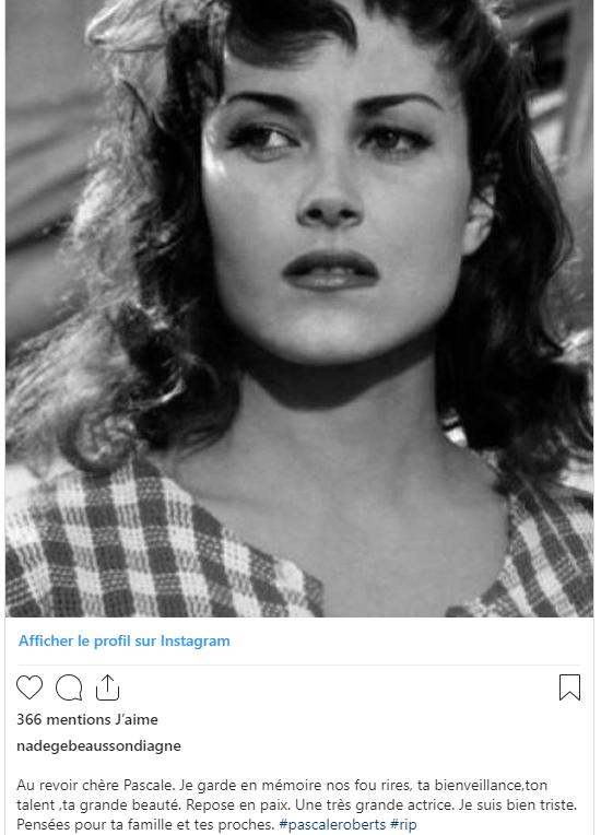 Décès de Pascale Roberts (Wanda, mère de Blanche) Nadege10