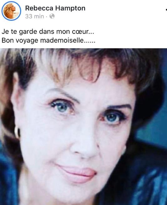 Décès de Pascale Roberts (Wanda, mère de Blanche) Rebecc10