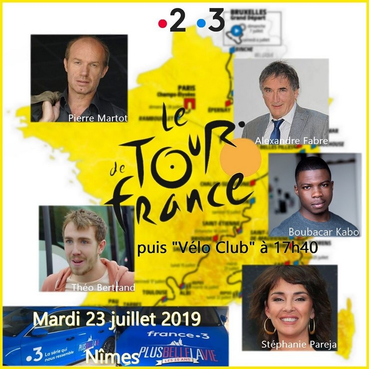 Les comédiens sur le Tour de France à Nîmes (23/07/19) Tdf11