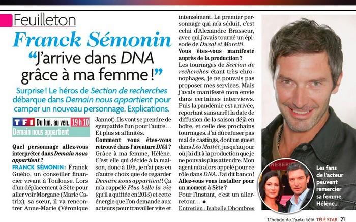 Interviews des comédiens et équipes - Page 11 Telest65