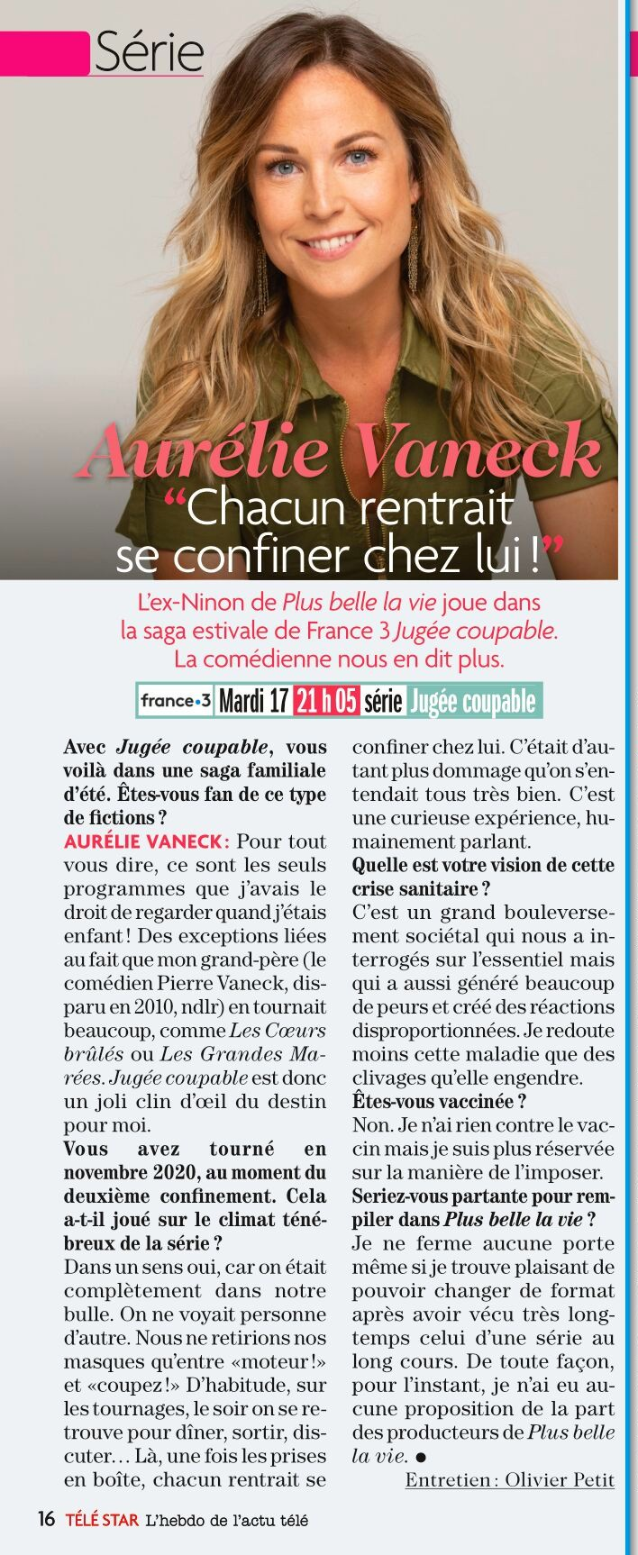 Interviews des comédiens et équipes - Page 12 Vaneck12