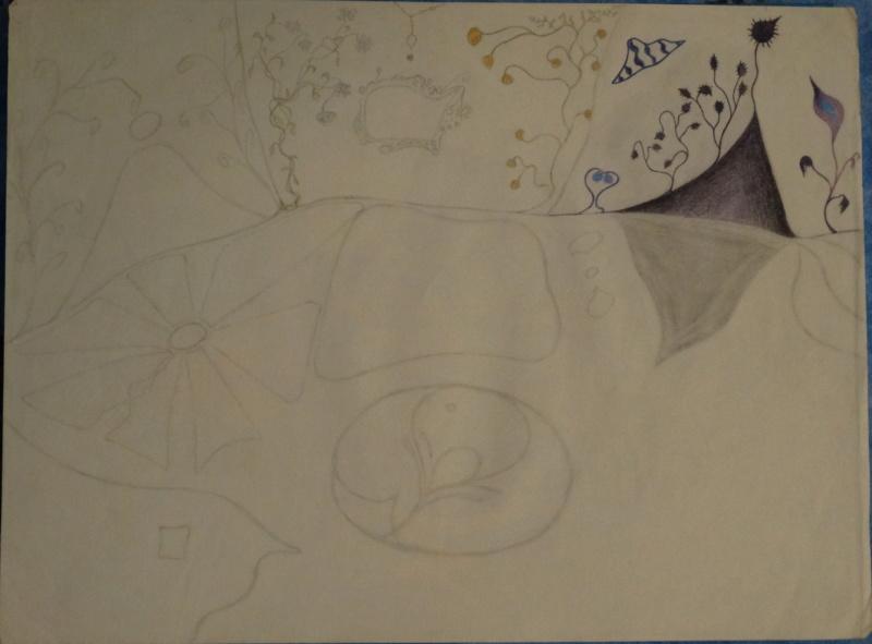 Mes dessins .... inachevés / Autres - Nuage Dsc04225